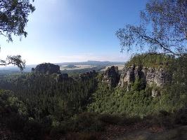 Foto Aussicht vom OberenTerrassenweg - links der Rauschenstein