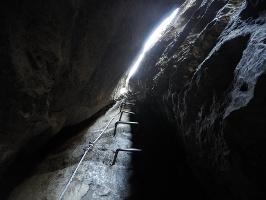 Foto Der spektakuläre Kamin in der Häntzschelstiege (oberer Teil)