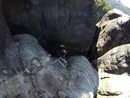 Foto In der Häntzschelstiege mit Blick von oben in den Kamin