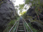 Foto Eine der endlos wirkenden Treppen der Heiligen Stiege
