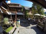 Foto Blick in den wunderbaren Kastanienhof in Schmilka gegenüber der Mühlenbäckerei