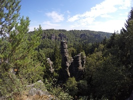 Foto Beeindruckende Felsnadeln im Bielatal (Ausblick von der Johanniswacht)