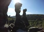 Foto Die markanten Felsnadeln im Bielatal