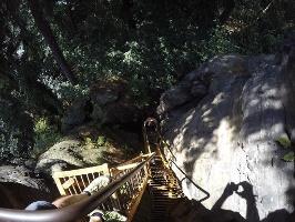 Foto Zwischenteil beim Auf- bzw. Abstieg am Sachsenstein