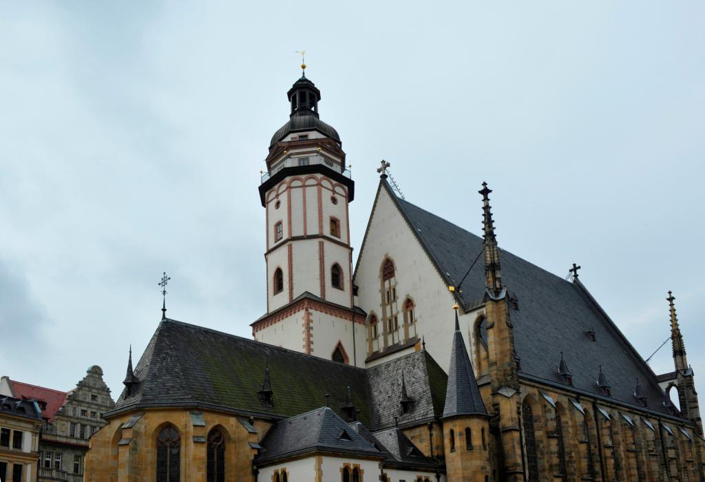 Lutherweg in Leipzig /Thomaskirche