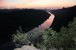 Foto Nach dem Sonnenuntergang auf der Kleinen Bastei