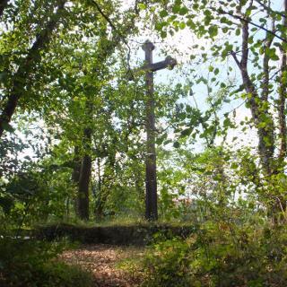 Kreuz auf dem Denkertfelsen