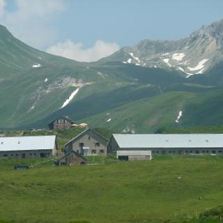 Capanna Cadagno über der Piora-Alpe