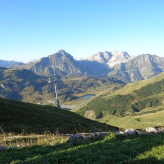 Blick von Widdersteinhütte auf die folgende Tagesetappe