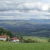 Blick von Kollnburg in den Bayer. Wald