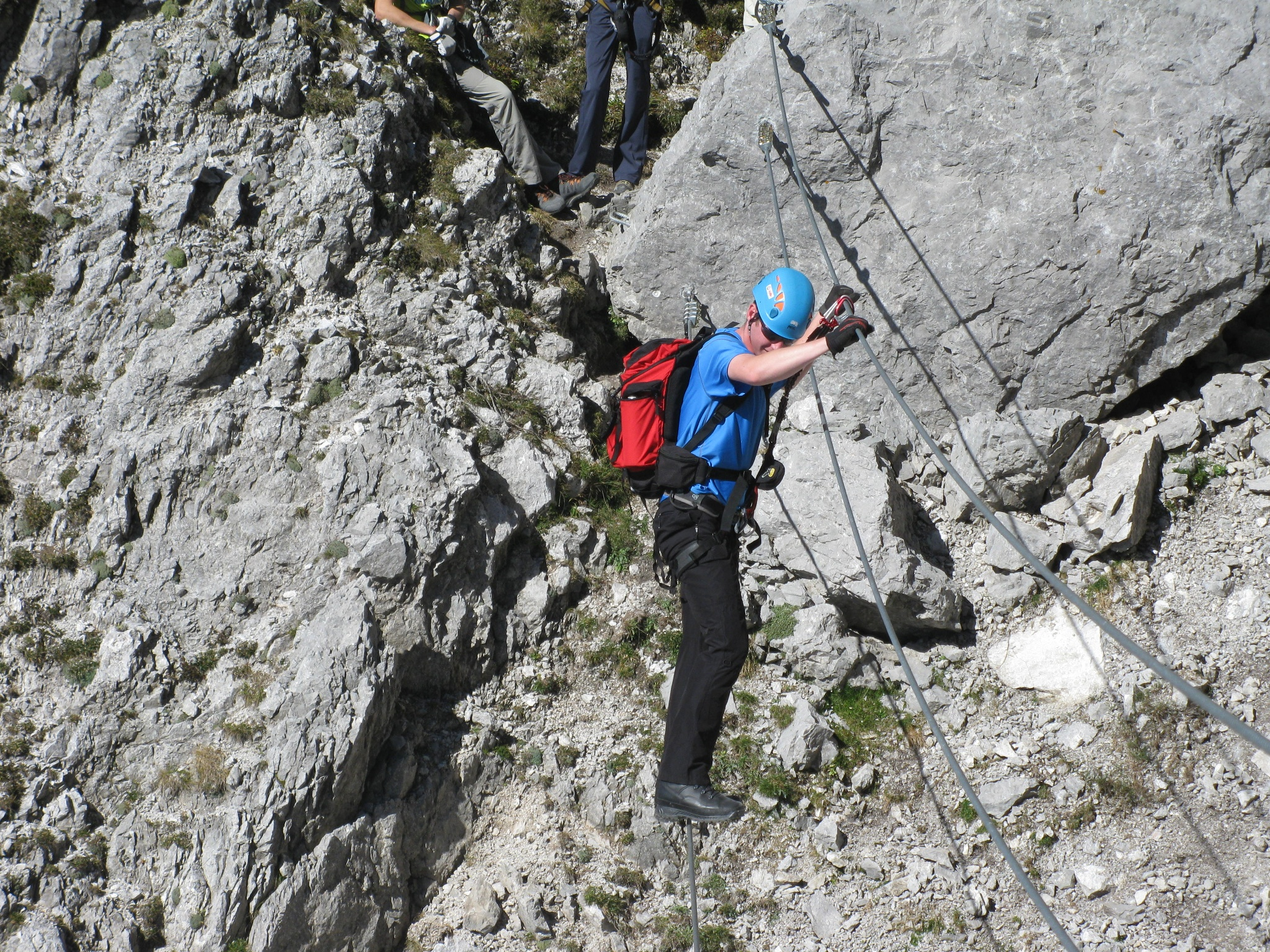 Klettersteig Villach : Feldkirchen klettersteig mit aussicht auf den ossiacher see
