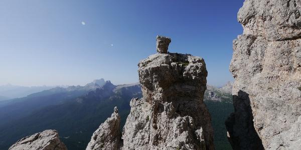 Außergewöhnliche Felsformation auf der Ferrata Olivieri