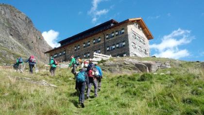 Dresdner Hütte in Sicht