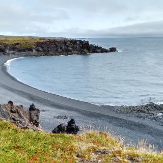 Snæfellsnes , Bucht von Dritvik, Strand Djúpalónssandur