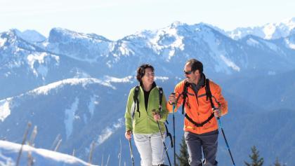 Schneeschuhwanderung Hinteres Hörnle - Blick auf die Ammergauer Alpen
