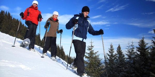 Schneeschuhwanderung Laber - Spaß im Schnee