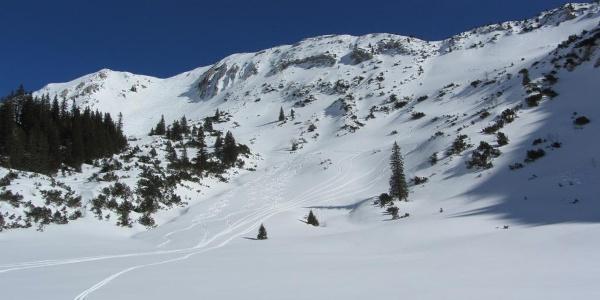 Skitour Hochblasse - Abfahrt