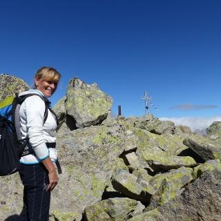 Der Gipfel der Gaisjochspitze ist erreicht.