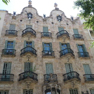 Facade of Casa Calvet