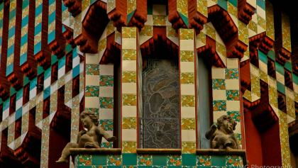 The colorful facade of Casa Vicens