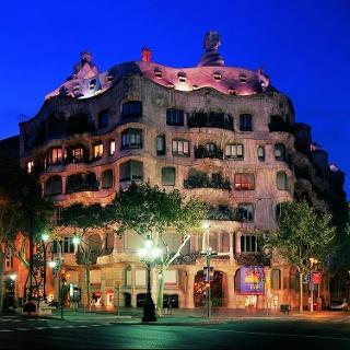 Vue de nuit de la Casa Milà