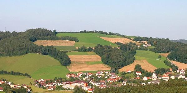 Blick auf Bad Schönau