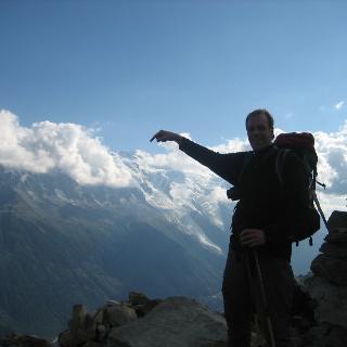 Da ist der Mont Blanc