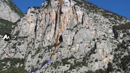Cesare Levis - Topo - Route in Foto