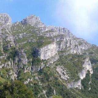 Resegone Westwand von der Bocca d'Erna