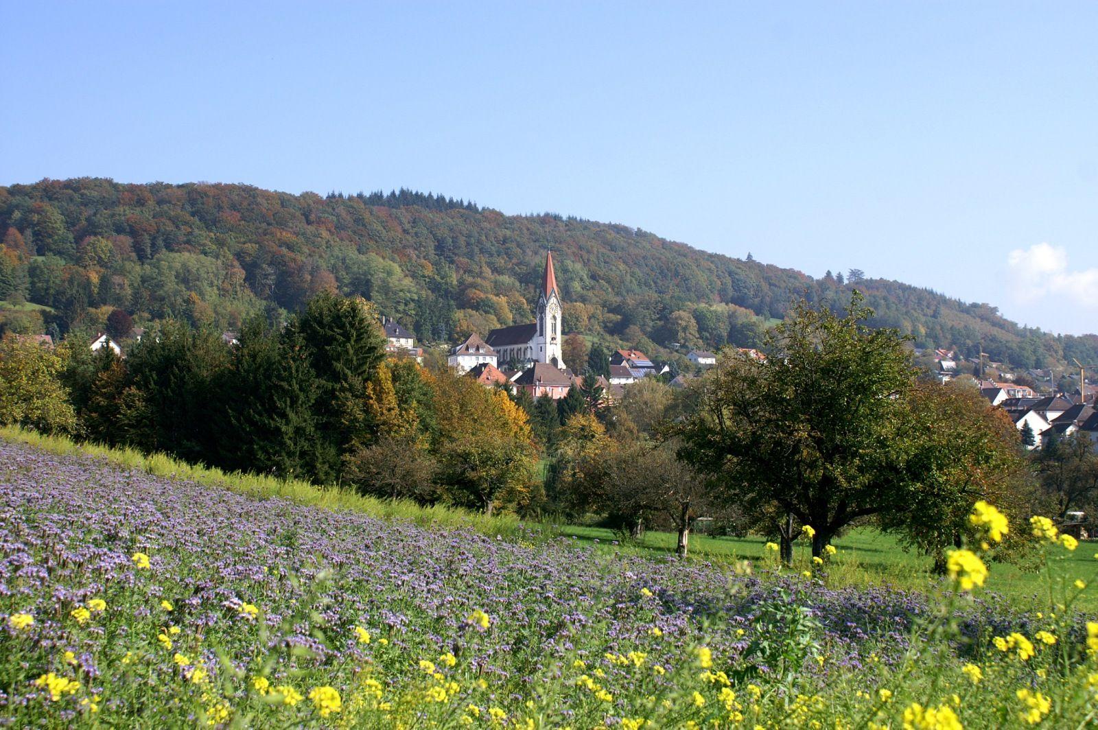 Gailingen mit kath. Kirche