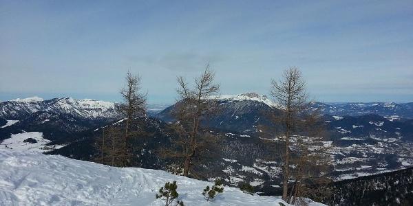 Blick von der Watzmann Gugl in Richtung Norden zum Untersberg