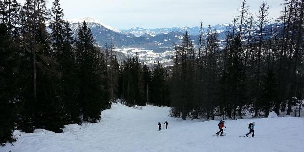 Skitouren Aufstieg zur Gugl