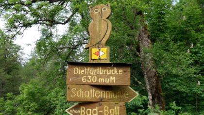 Wegzeichen Dietfurtbrücke