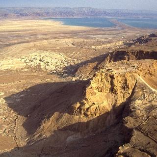 Masada von oben