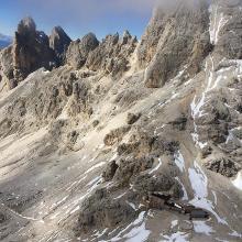 Grasleitenpasshütte nach ein paar Klettersteig-Höhenmetern
