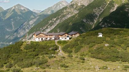 unser Ziel die Hanauer Hütte auf 1922m