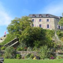 Blick zur Burg in Kastellaun