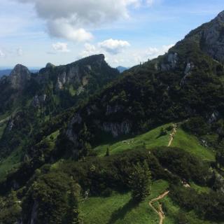 Blick Rotohrsattel - Hennenkopf