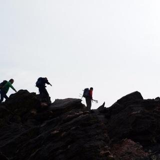 Gipfelgrat in leichter Kletterei