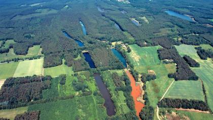 Vier bunte Seen