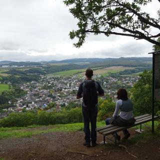 Aussicht vom Bausenberg auf das obere Brohltal.
