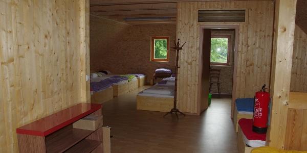 Schlafraum und Hüttenkammer