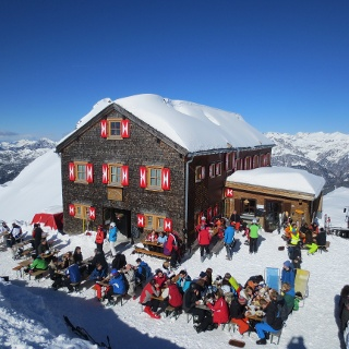 Wormser Hütte im Winter