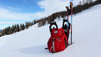 Schneeschuhausrüstung