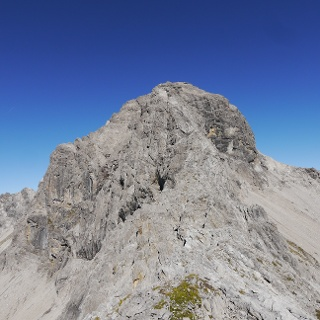 Die Hermannskarspitze aus der Nähe
