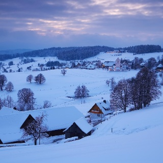 Winter in Saig