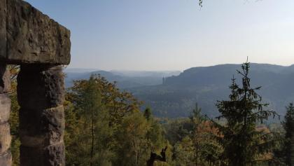 Aussicht von der Hohen Liebe (401 m)