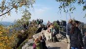 Foto So kann es an schönen Wochenenden an der Schrammsteinaussicht zugehen