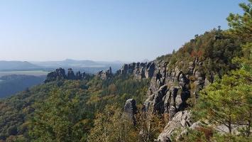 Foto Blick vom Schrammsteinweg