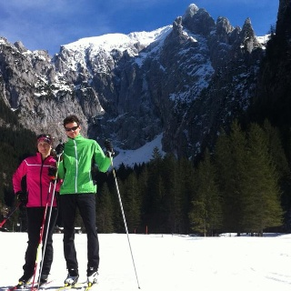 Langlaufen Höhenloipe Scharitzkehl, Obersalzberg Berchtesgaden